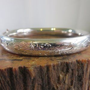 Vintage Sterling H F Barrows Bangle Bracelet